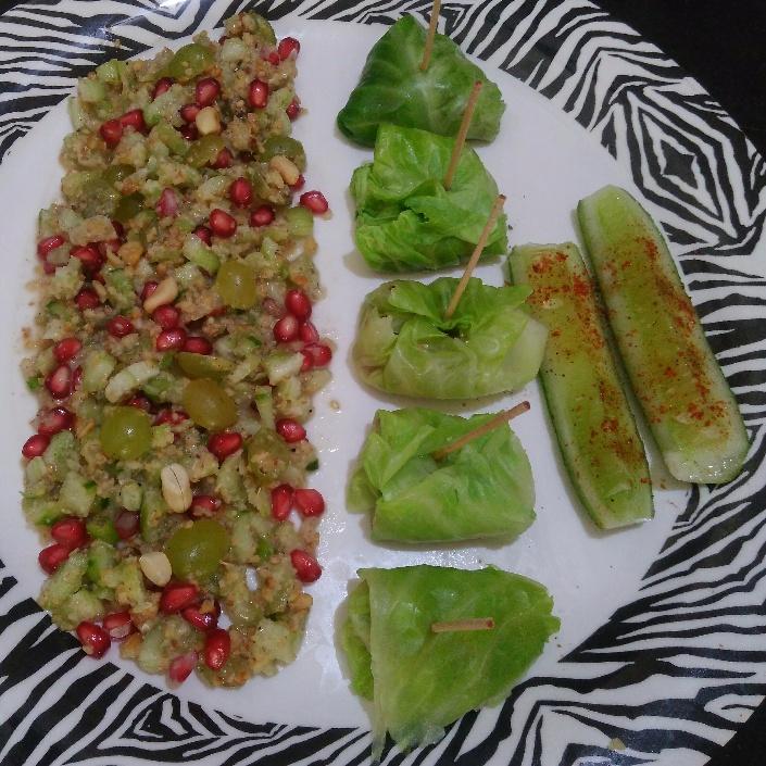 How to make Stuffed cucumber salad