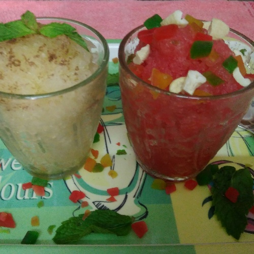 How to make Real Fruit Granita of Watermelon and Sugarcane