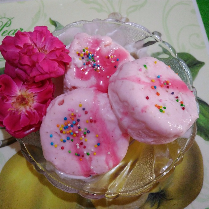 How to make Rose Coconut Ice Cream