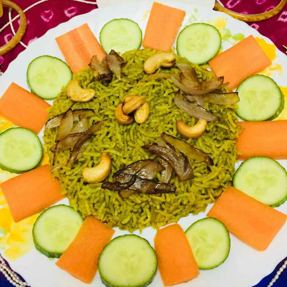How to make Palak biryani