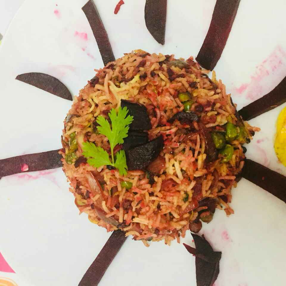 Photo of Beetroot pulav by Pushpalata Yadav at BetterButter