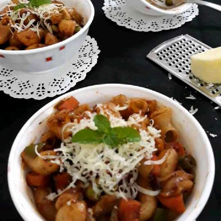 How to make Instant Indian Style Veg-Macaroni pasta