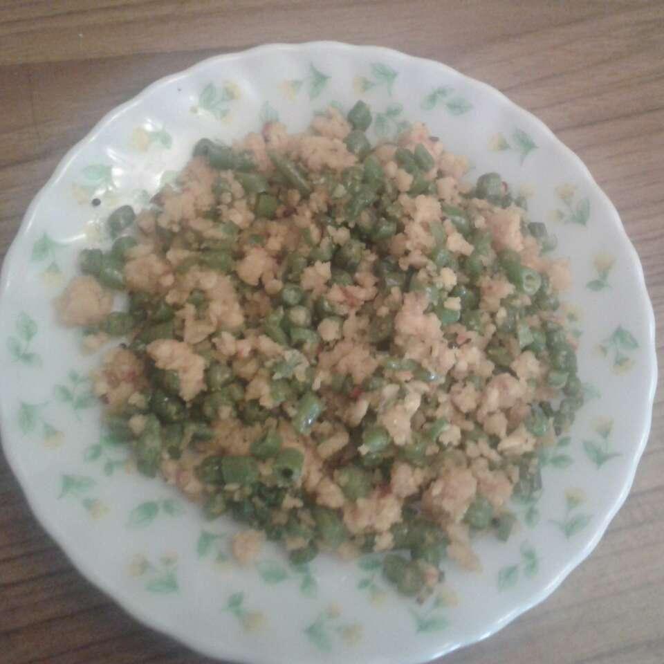 How to make Beans Paruppu Usili