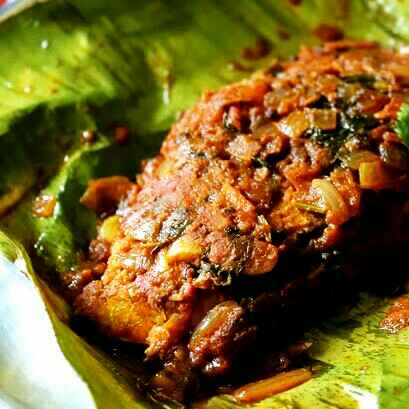How to make Banana leaf fish fry