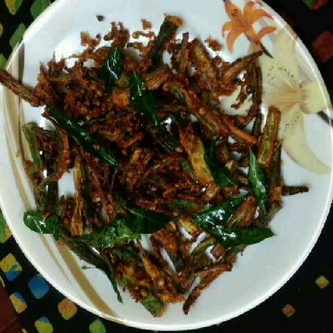 How to make Bhindi kurkure/ ladies finger kurkure
