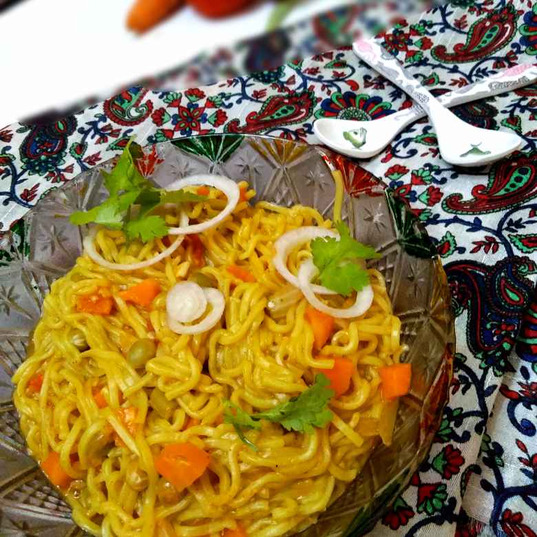 How to make Vegetable maggi noodles