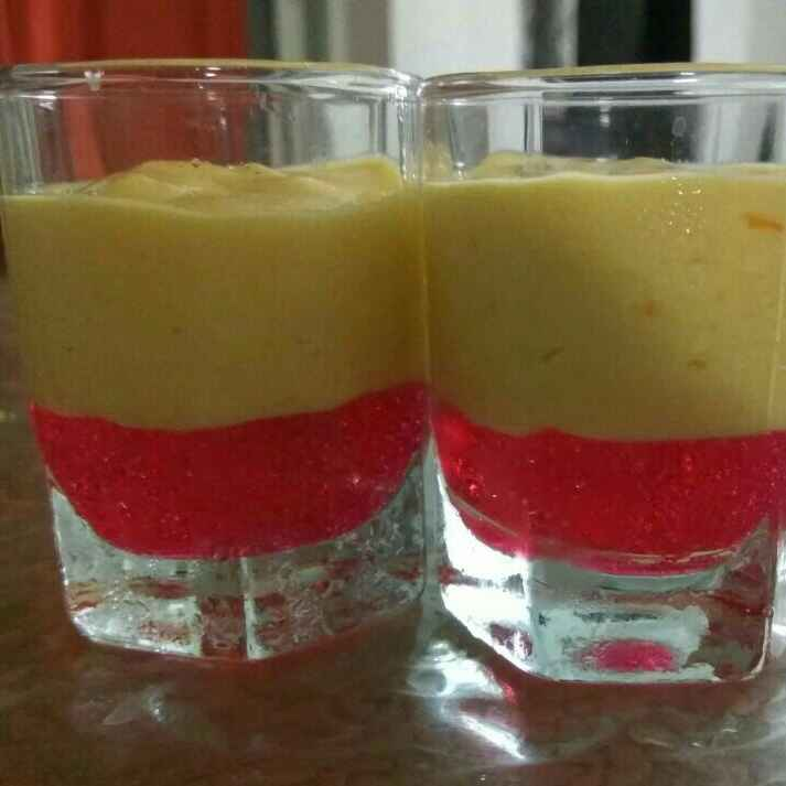 Photo of Easy Peasy Strawberry Jelly with Mango Mousse by Rachana Bhatia at BetterButter