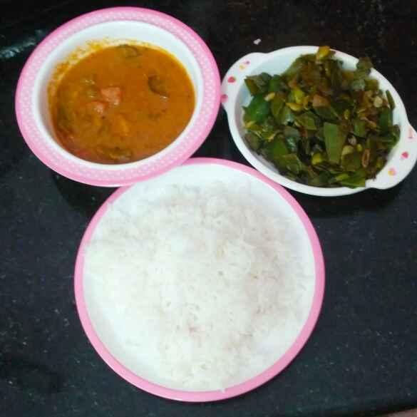 Photo of Vegetable gravy broad beans poriyal rice by Rachell Revathi Samuel at BetterButter