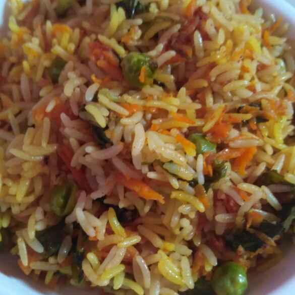 Photo of Opos carrot peas rice by Rachell Revathi Samuel at BetterButter