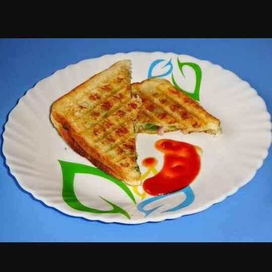 How to make आलू पनीर का ग्रिल्ड सैंडविच