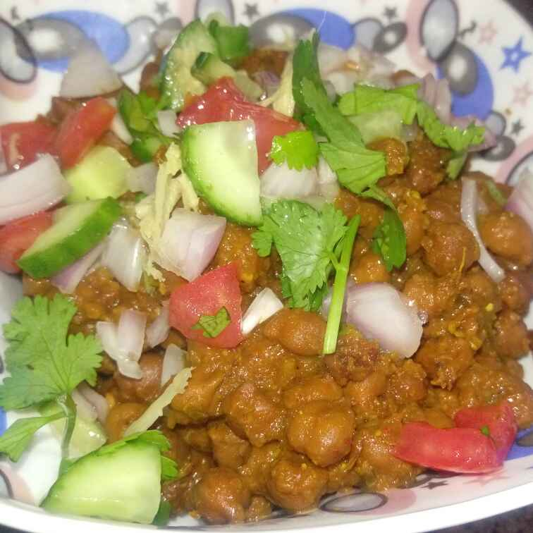 How to make Black channa chaat (expecting mother)