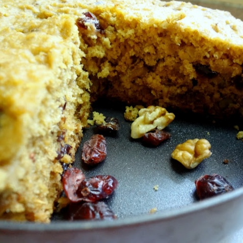 How to make Banana  ,walnut , cranberry breakfast  cake