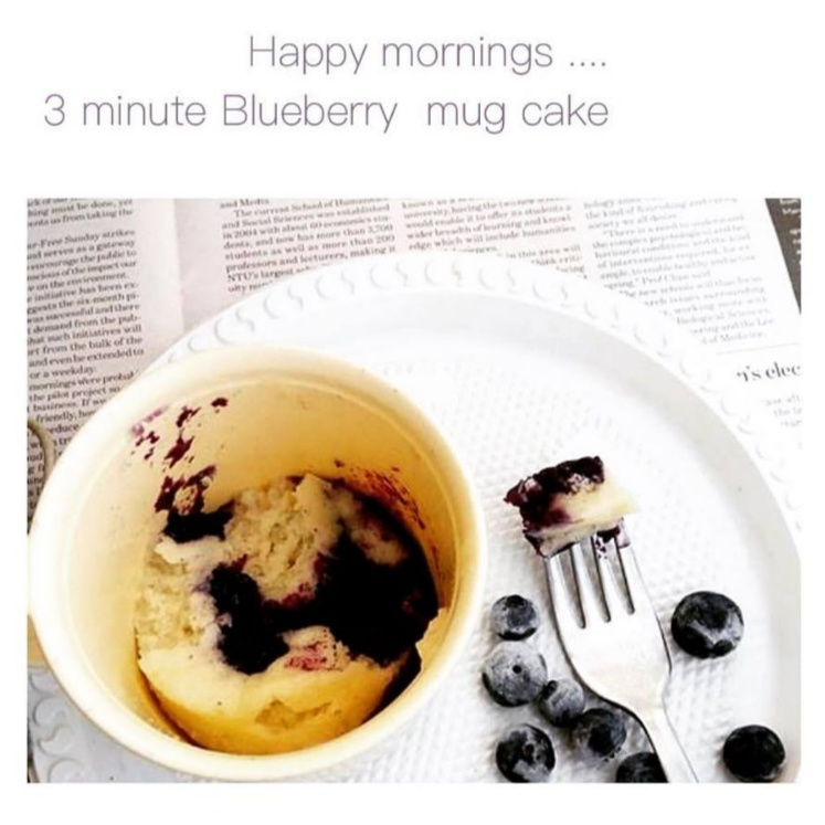 Photo of 3 minute Blueberry  Mug cake by Radha Natarajan at BetterButter