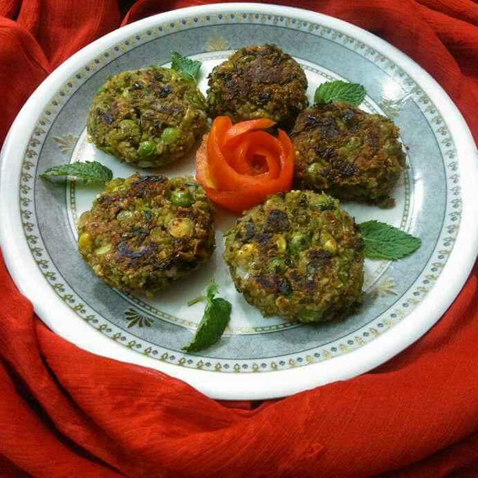 Photo of Peas lotus seeds kababs by Radhika Chhabra at BetterButter