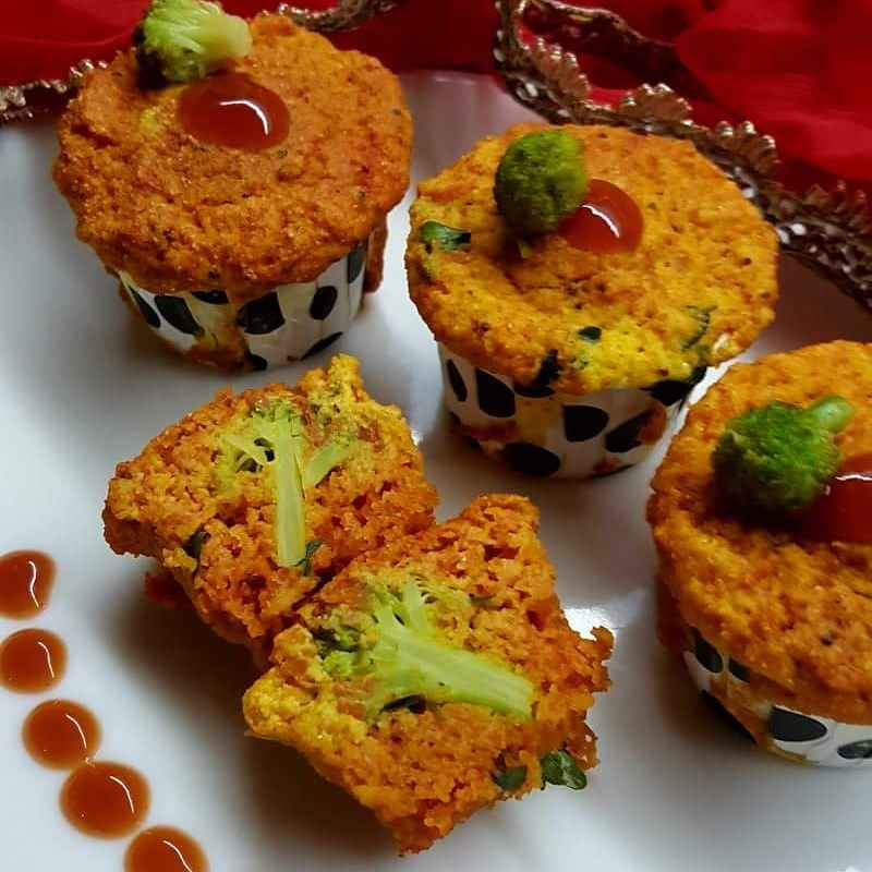 How to make Broccoli Stuffed Savory Muffins