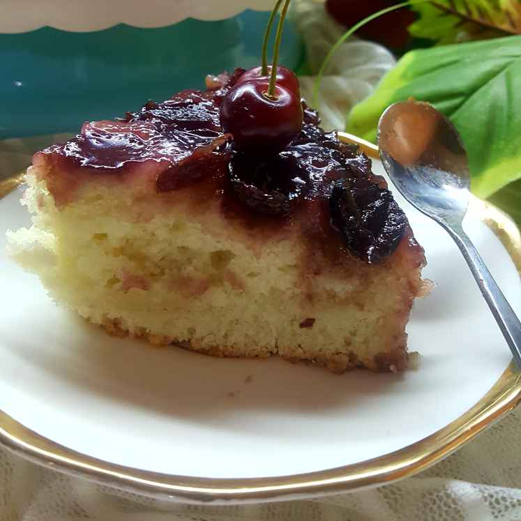 Photo of Cherry upside down cake by Radhika Chhabra at BetterButter