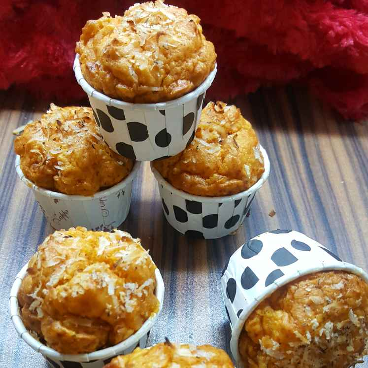 Photo of Papaya and coconut cupcakes by Radhika Chhabra at BetterButter