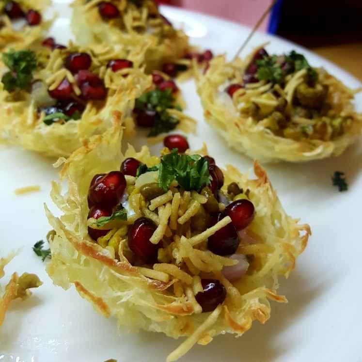 Photo of Baked potato basket chat by Radhika Chhabra at BetterButter