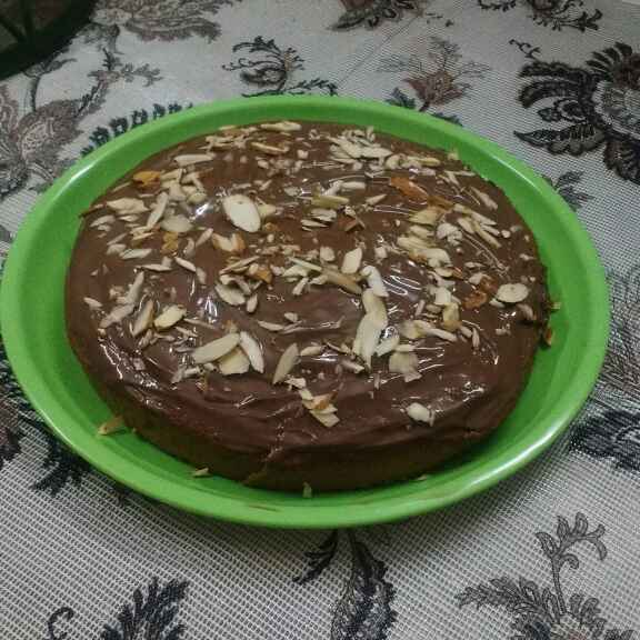 Photo of Cappuccino cake with hersheys almond frosting by Raiha Faraz at BetterButter