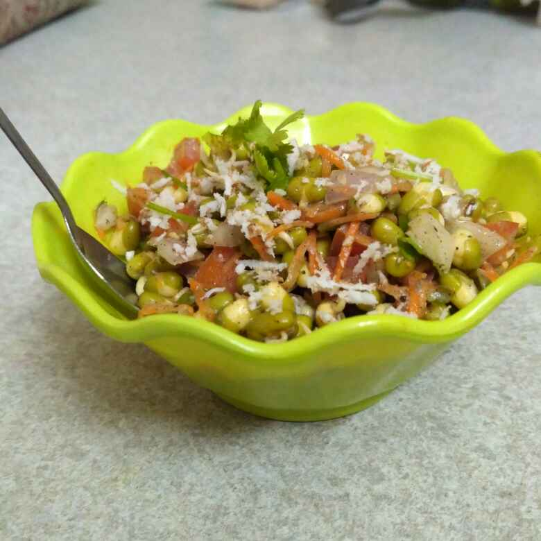 How to make Moong sprout salad