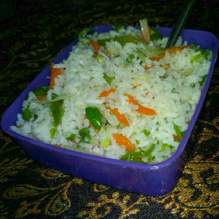 How to make VEGETABLE FRIED RICE (leftover rich)