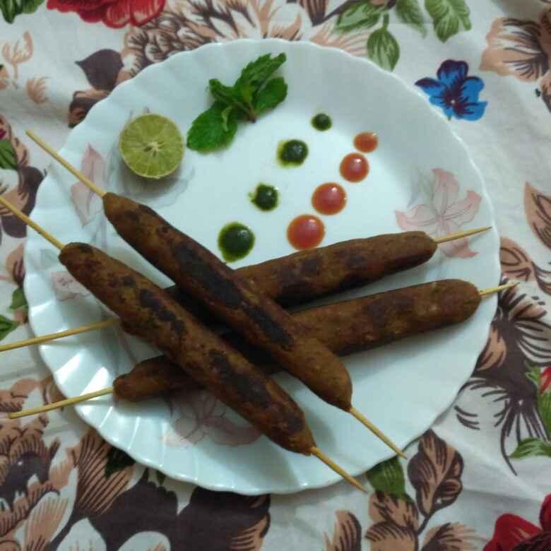 Photo of Veg seekh kebab by Raihanathus Sahdhiyya at BetterButter