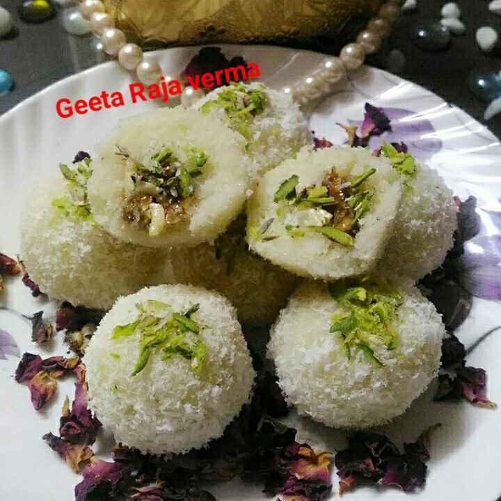 Photo of Shahi gulab nariyal laddu by Geeta Verma at BetterButter
