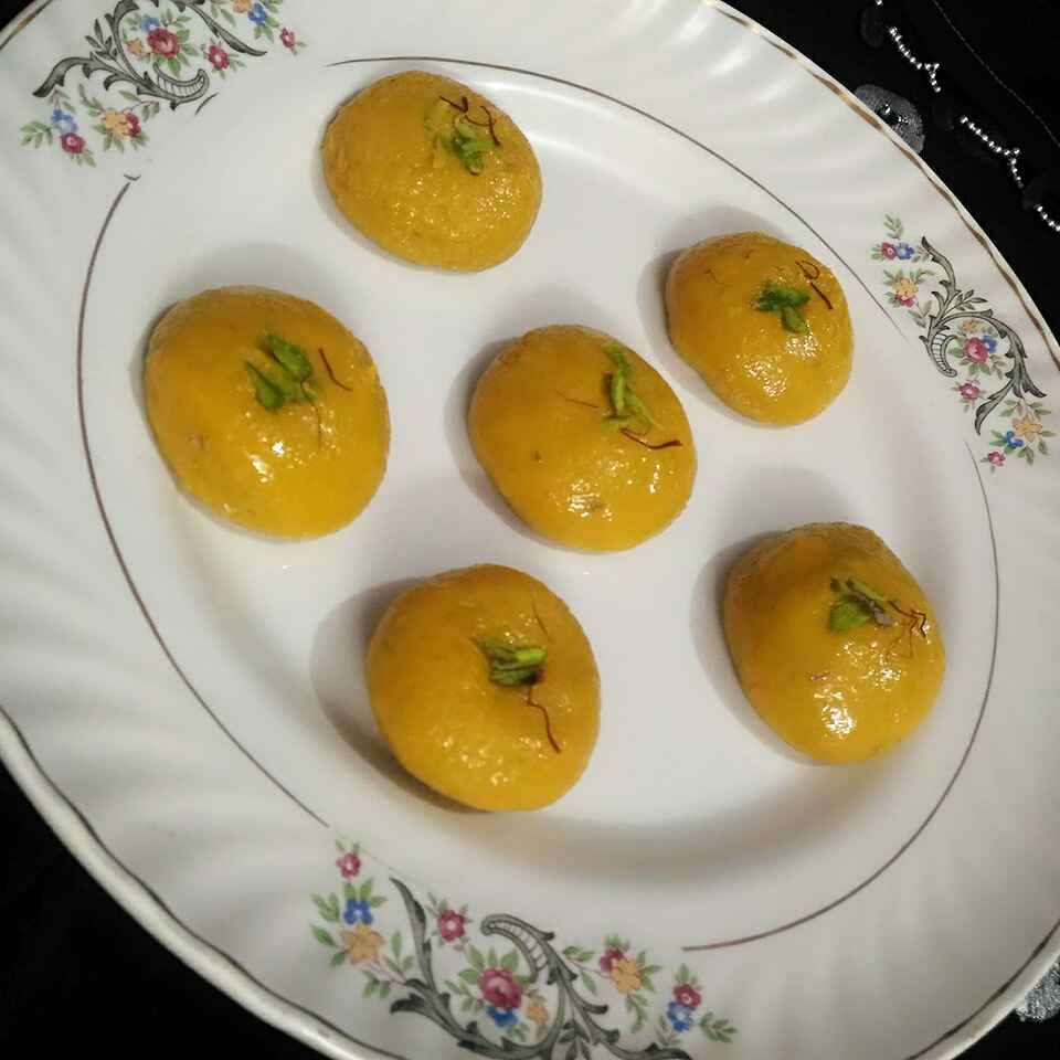 Photo of Mango kesar peda by Geeta Verma at BetterButter