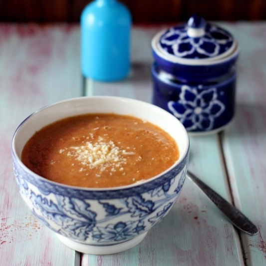 Photo of Roasted eggplant and tomato soup by Rajani sivaram at BetterButter
