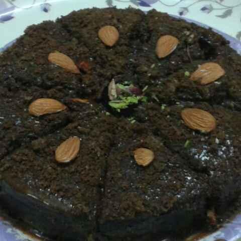 How to make Almond chocolate cake
