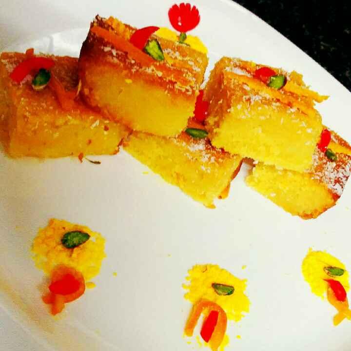 How to make Orange Basbausa Revani cake