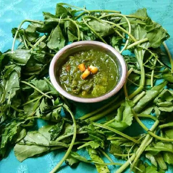How to make Palak paneer with leftover potato bhaji
