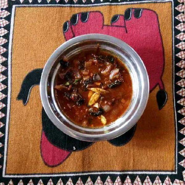 How to make Red Amaranth leaves' tangy gojju