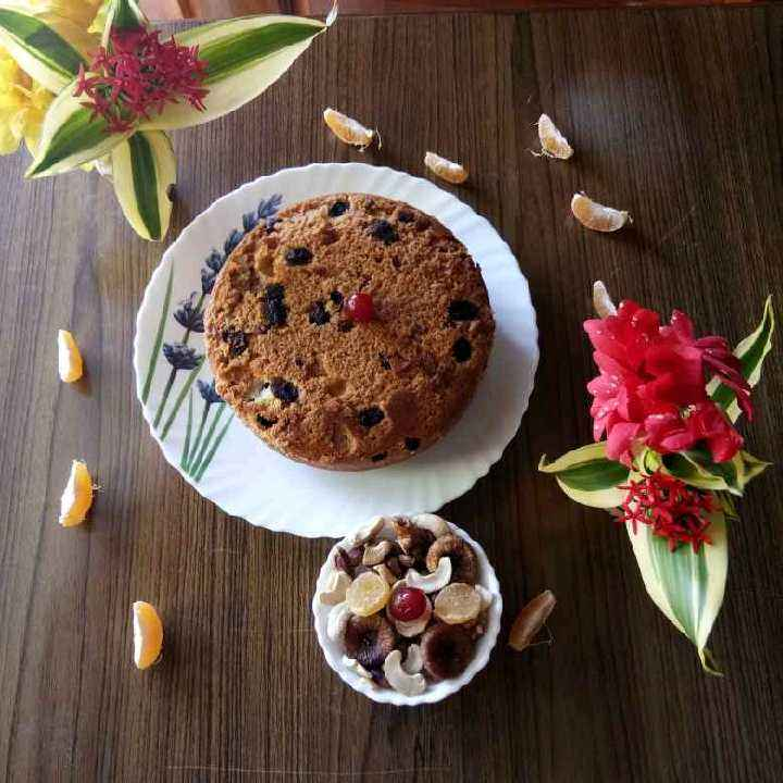 How to make Whole Wheat Flour Fruits And Nuts Cake
