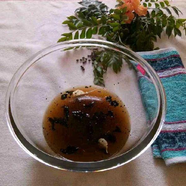 How to make Tamarind Rasam With Garlic Tadka