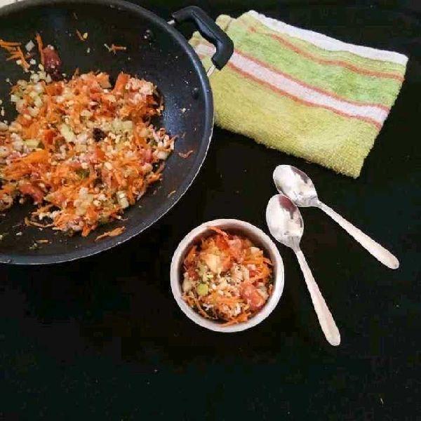 How to make Moong Dal Mixed Veggies Salad