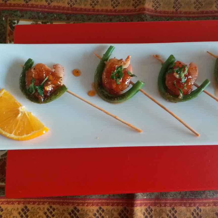 Photo of Prawn sticks with orange glaze by Rajni Anand at BetterButter