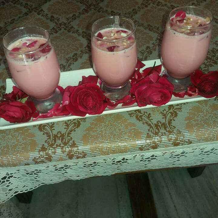 Photo of chilled Rose kheer by rajni vij at BetterButter