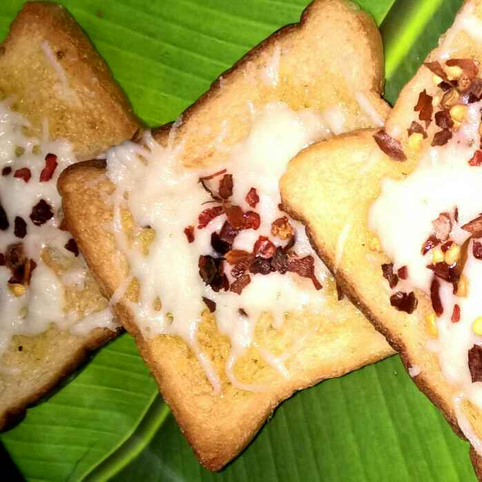 How to make Open Cheese Garlic Sandwich