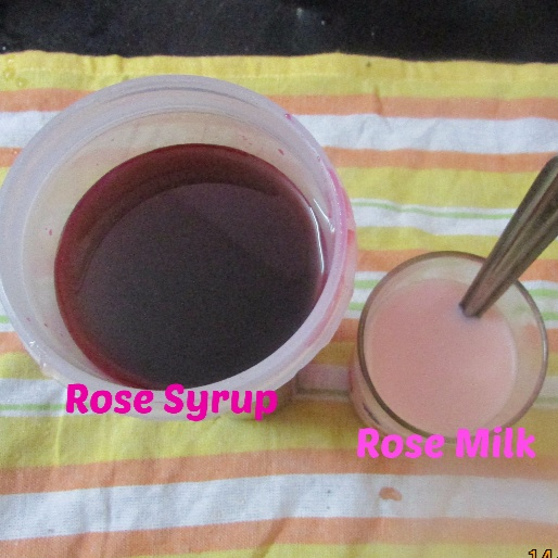 How to make Rose Milk with Homemade Rose Syrup