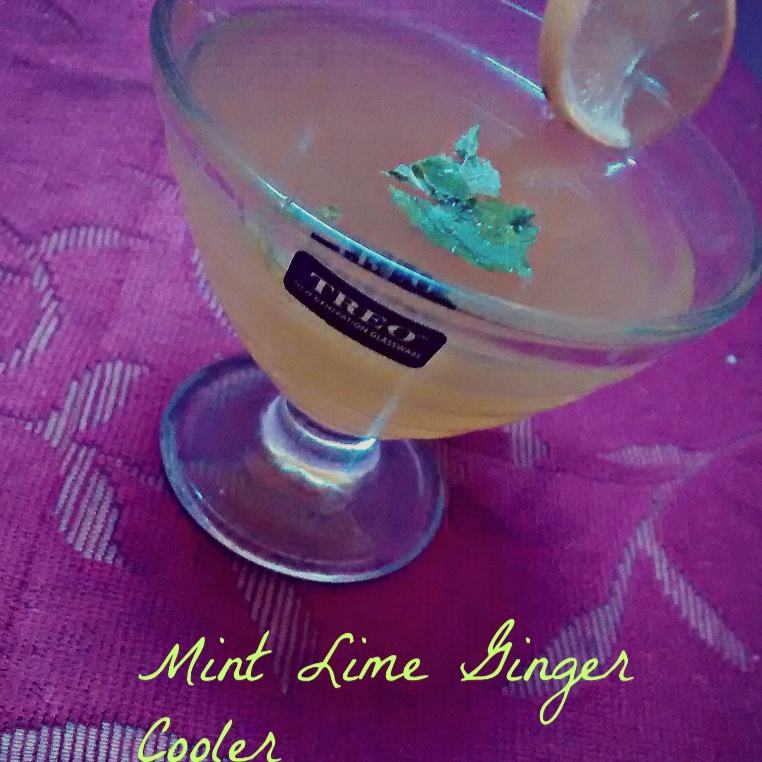 How to make Mint Lime Ginger Cooler