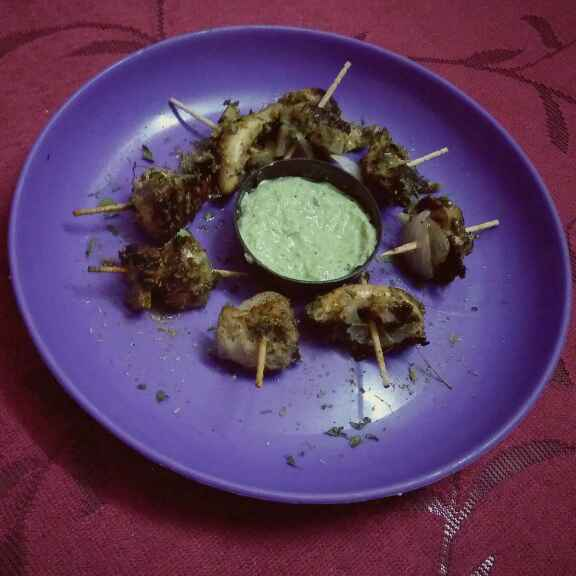 How to make Curry leaf Mushroom Tikka With Amla Chilli Dip