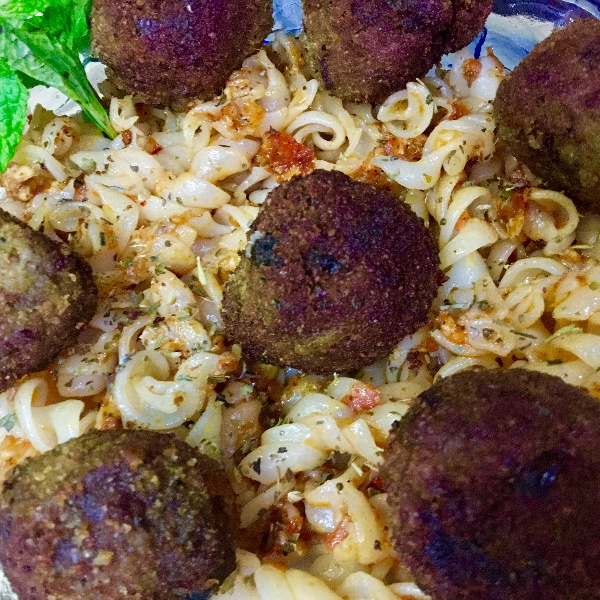 Photo of CHEESEY  FUSILLI  PASTA  WITH MEAT BALLS ! by Ramani Thiagarajan at BetterButter