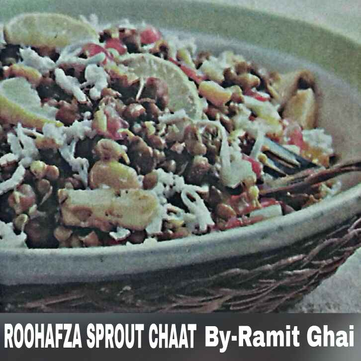How to make Roohafza Sprout Chaat