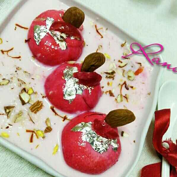 Photo of Rose Flavour Rasmalai by Rani Soni at BetterButter