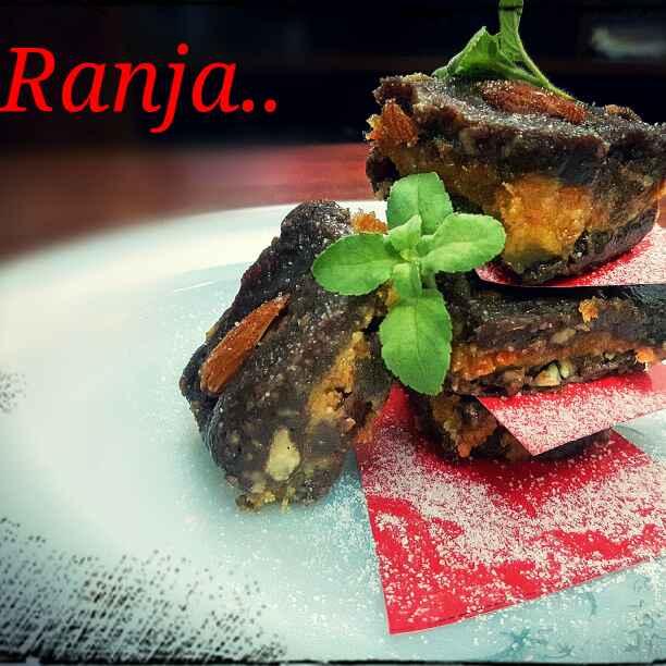 Photo of Choclaty carrot layered fudge by Ranja Mukherjee at BetterButter