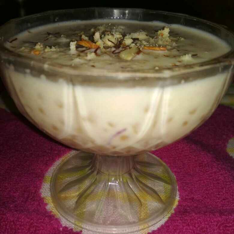 How to make Kesar Pista Sabudana Pudding