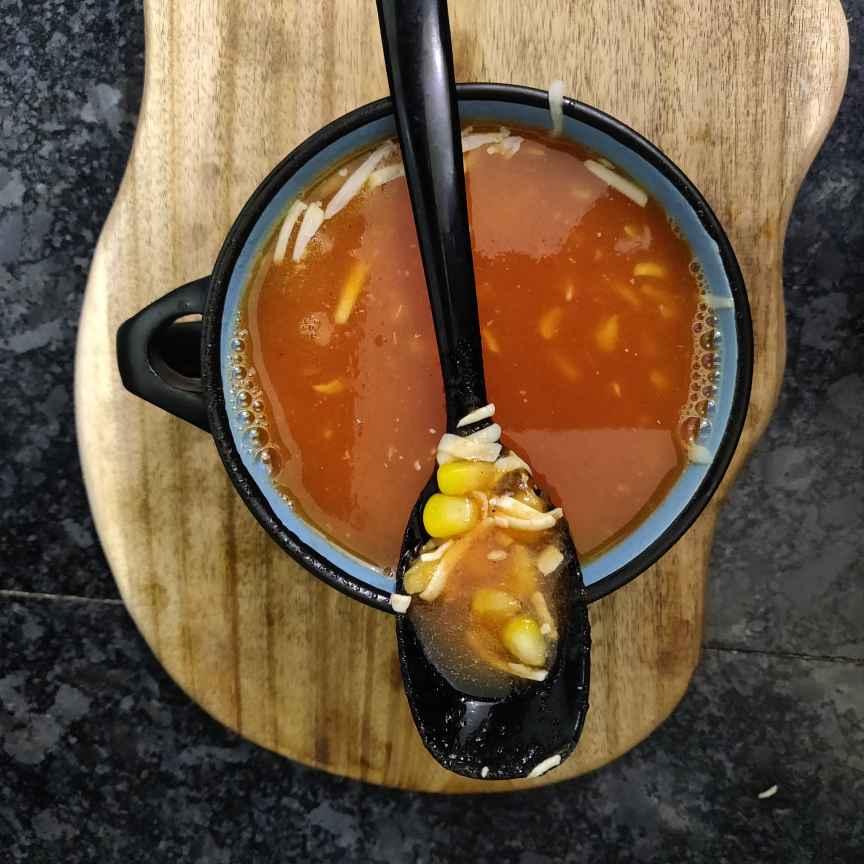 Photo of Tomato corn cheese soup by rashi jain at BetterButter