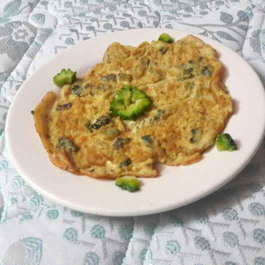 Photo of Fried Bitter Gourd Omelette by Rashitha Mufeed at BetterButter