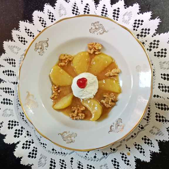 Photo of Caramalised pears with toffe sauce by Rash amol at BetterButter